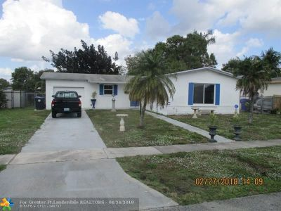 North Lauderdale Single Family Home For Sale: 6541 SW 7th Ct