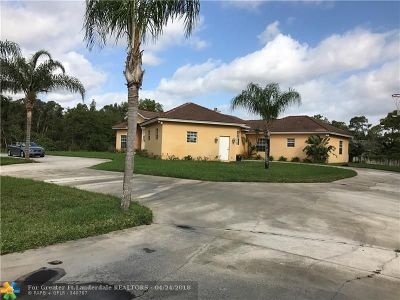 West Palm Beach Single Family Home For Sale: 13551 Temple Blvd