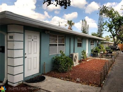 Pompano Beach Multi Family Home For Sale: 860 NW 6th Ave