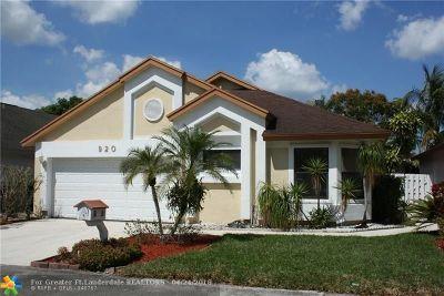 North Lauderdale Single Family Home Backup Contract-Call LA: 920 Magnolia Ave