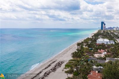Hallandale Condo/Townhouse For Sale: 3180 S Ocean Dr #1709