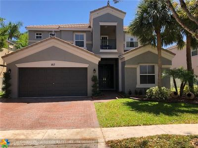 Pembroke Pines Single Family Home For Sale: 853 SW 167th Ave