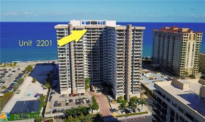Hallandale Condo/Townhouse For Sale: 2030 S Ocean Dr #2201
