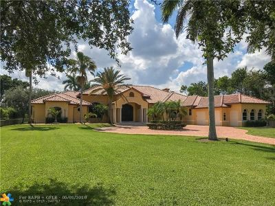 Southwest Ranches Single Family Home For Sale: 5571 Thoroughbred Ln