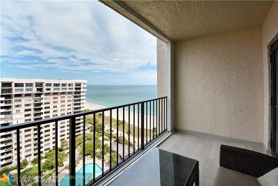 Condo/Townhouse Sold: 5000 N Ocean Blvd #1610