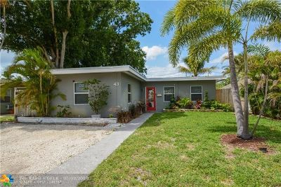 Wilton Manors Single Family Home For Sale: 43 NE 25th St