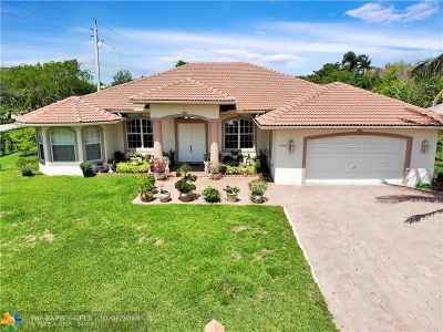 Coral Springs Single Family Home For Sale: 3900 NW 114th Ave
