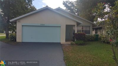 Coral Springs Single Family Home Backup Contract-Call LA: 11604 NW 28th St