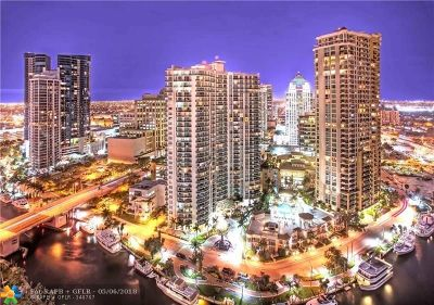 Fort Lauderdale Condo/Townhouse For Sale: 347 N New River Dr E #2104