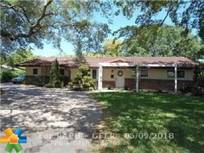 Coral Springs Single Family Home For Sale: 3205 NW 87th Ave