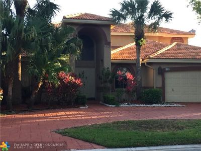 Coral Springs Single Family Home For Sale: 6133 NW 53rd St