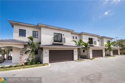 Oakland Park Condo/Townhouse For Sale: 1036 NE 33rd St #1036