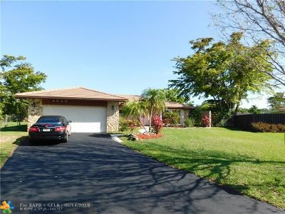 Coral Springs Single Family Home For Sale: 3540 NW 99th Ave