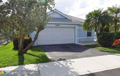 Davie Single Family Home For Sale: 2667 Pinewood Ct
