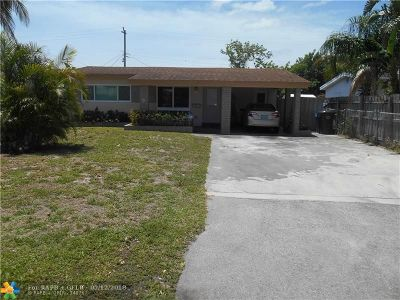 Oakland Park Single Family Home For Sale: 560 NE 46th St