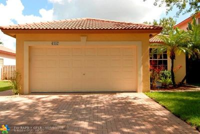 Coral Springs Single Family Home For Sale: 6157 NW 40th St