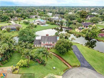 Davie Single Family Home For Sale: 11651 SW 21st Pl