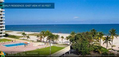 Pompano Beach Condo/Townhouse Backup Contract-Call LA: 730 N Ocean Bl #1501