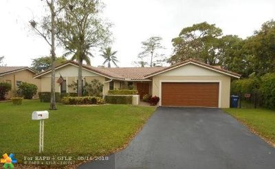 Coral Springs Single Family Home For Sale: 1392 NW 82nd Ave