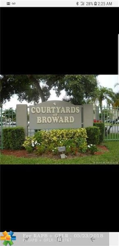North Lauderdale Condo/Townhouse For Sale: 1800 SW 81 #1218