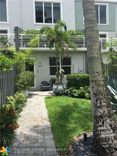 Wilton Manors Condo/Townhouse For Sale: 808 NE 28th St #5