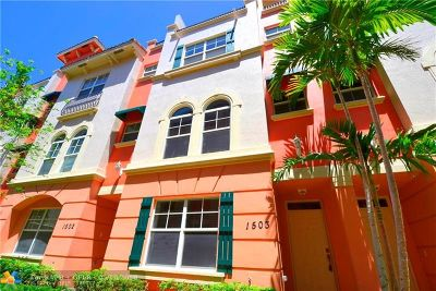Fort Lauderdale Condo/Townhouse For Sale: 1033 NE 17th Way #1503