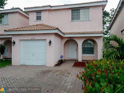 Sunrise Single Family Home Backup Contract-Call LA: 5418 NW 94th Ter.