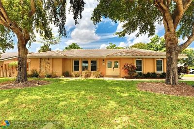 Coral Springs Single Family Home For Sale: 8751 NW 19th St