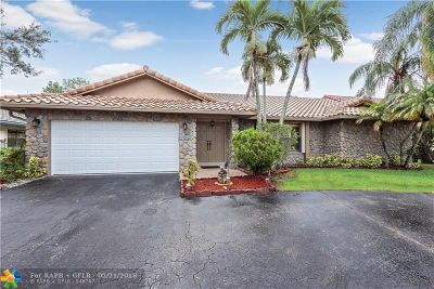 Coral Springs Single Family Home For Sale: 5329 NW 64th Way