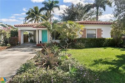 Fort Lauderdale Single Family Home For Sale: 1218 NE 17th Ave