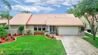 Coral Springs Single Family Home For Sale: 4925 NW 59th Way