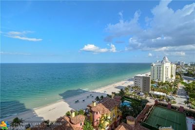 Fort Lauderdale Condo/Townhouse For Sale: 2110 N Ocean Blvd #16A