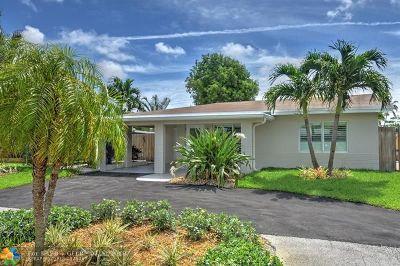 Oakland Park Single Family Home For Sale: 4640 NE 3rd Ave