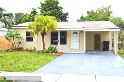 Oakland Park Single Family Home For Sale: 380 NE 51st St