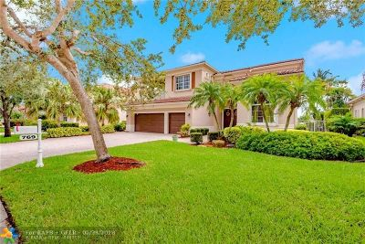 Coral Springs Single Family Home For Sale: 769 NW 123rd Dr