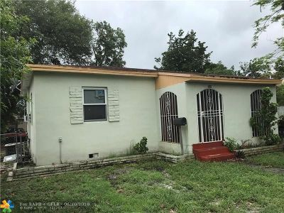 North Miami Single Family Home For Sale: 300 NW 135th St