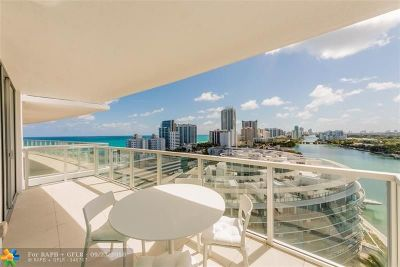 Miami Beach Condo/Townhouse For Sale: 6700 Indian Creek Dr #1503
