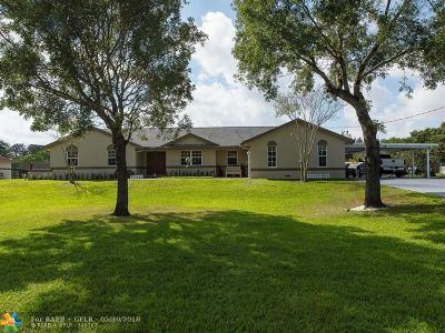 Davie Single Family Home For Sale: 14000 SW 24th St