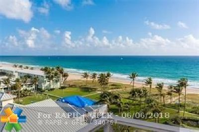 Lauderdale By The Sea Condo/Townhouse For Sale: 5200 N Ocean Blvd #508
