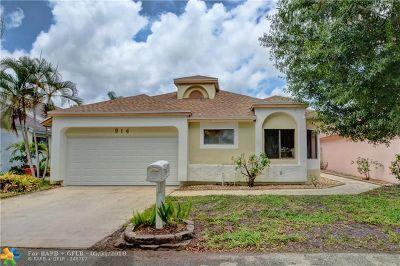 North Lauderdale Single Family Home Backup Contract-Call LA: 914 Magnolia Ave
