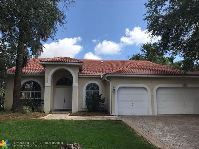 Coral Springs Single Family Home For Sale: 5767 NW 54th Pl