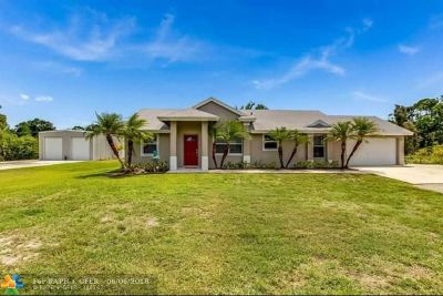 Loxahatchee Single Family Home Backup Contract-Call LA: 17578 49th St