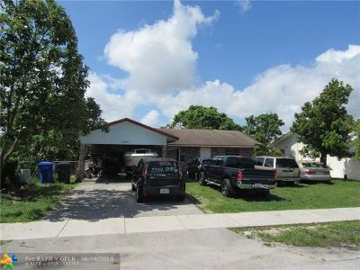 North Lauderdale Single Family Home For Sale: 6260 SW 19th St