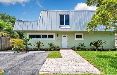 Oakland Park Single Family Home For Sale: 1380 NE 40th Dr