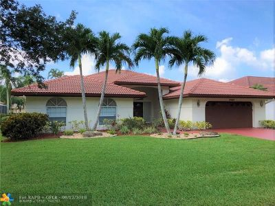 Coral Springs Single Family Home Backup Contract-Call LA: 10444 NW 48th Mnr