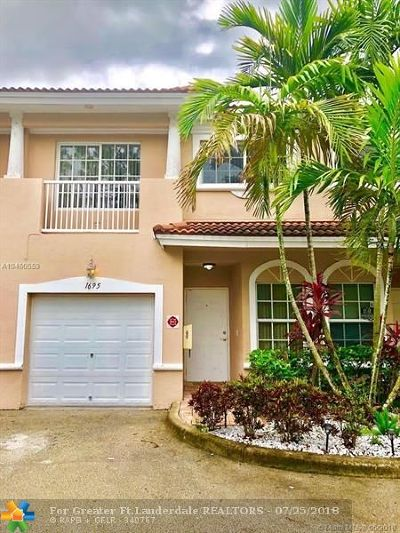 Coral Springs Condo/Townhouse For Sale: 1695 NW 94th Ave #1695