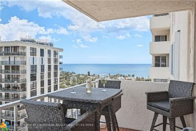 Fort Lauderdale Condo/Townhouse For Sale: 3015 N Ocean #16A
