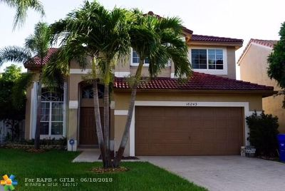 Pembroke Pines Single Family Home For Sale: 18243 NW 20 Street