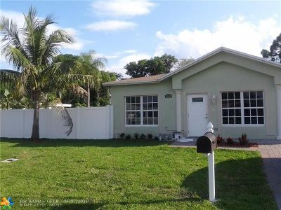Oakland Park Single Family Home For Sale: 920 NE 34th St