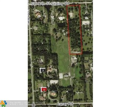 Southwest Ranches Residential Lots & Land For Sale: 13900 Stirling Rd
